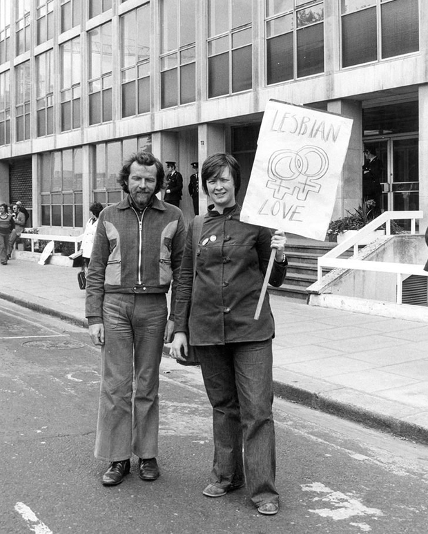 In the beginning: A protest outside the Department of Justice on Pride Day in 1974. Photo: David Norris, IQA/NLI