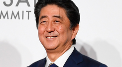 Shinzo Abe: The Japanese PM clashed with China over Hong Kong. Photo: PA