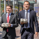 Tea run: Paschal Donohoe supporting Leo Varadkar in his campaign for Taoiseach in 2017. Photo: Naoise Culhane