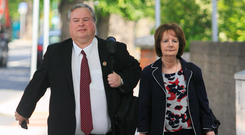 'Torturous' talks: Siptu's Paul Bell and Marie Butler arrive at the Labour Court in Dublin for negotiations