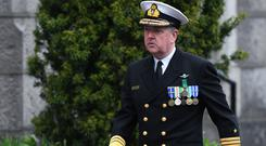 Mark Mellett, an Irish Naval Service Vice admiral and the current Chief of Staff of the Defence Forces of Ireland