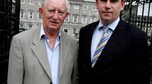 John Deasy with his late father Austin. Photo: Tom Burke