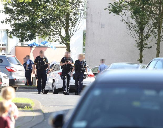 Gardai at the scene in Blanchardstown. Picture: Mick O'Neill