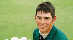 Louis Oosthuizen, then aged 19, after winning the 2002 Irish Strokeplay Championship at Royal Dublin. Photo: Pat Cashman
