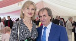 Diane Davison & Chris De Burgh at the Dubai Duty Free Irish Derby at the Curragh Racecourse, Co. Kildare. Picture: Anthony Woods