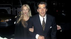 John F Kennedy Jr.and Carolyn Bessette arrive at the 2nd Anniversary Party of George Magazine, Asia De Cuba, New York City, NY, 11/5/97 (Photo by Ron Galella/WireImage)