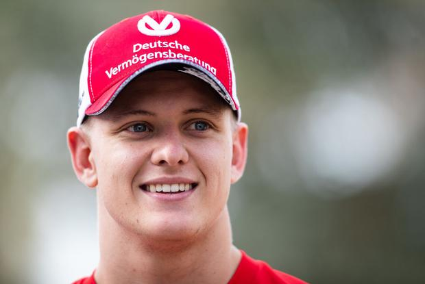 Mick Schumacher of Germany and Ferrari looks on in the Paddock before the F1 Grand Prix of Bahrain at Bahrain International Circuit on March 31, 2019 in Bahrain, Bahrain. (Photo by Lars Baron/Getty Images)