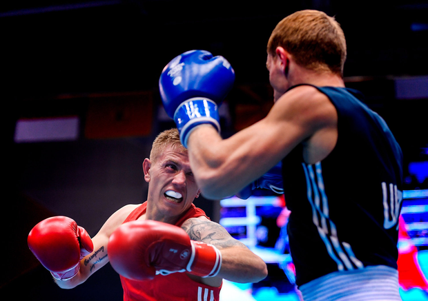 In action against Mykola Butsenko of Ukraine. Photo: Seb Daly/Sportsfile