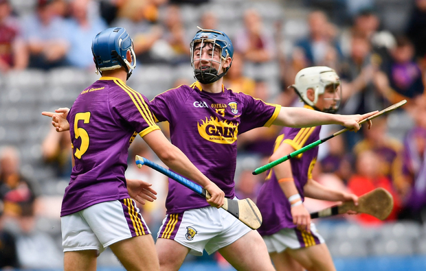 AJ Redmond, who did brilliantly to end the famine that stretched back to 1985, shot over the next five points to fire Wexford into a winning position. Photo by Ramsey Cardy/Sportsfile