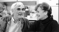 'Man of magic': Tom Jordan as Charlie Kelly, with his screen wife Mags played by Joan Brosnan Walsh in 'Fair City'