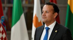 Euro meeting: Leo Varadkar arrives for a European Union leaders summit in Brussels. Photo: REUTERS/Johanna Geron