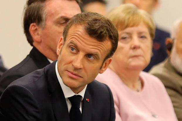 Support: Emmanuel Macron is happy with the deal. Photo: AFP/Getty Images