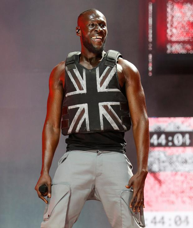 Stormzy on stage on Friday. Photo: Yui Mok/PA Wire