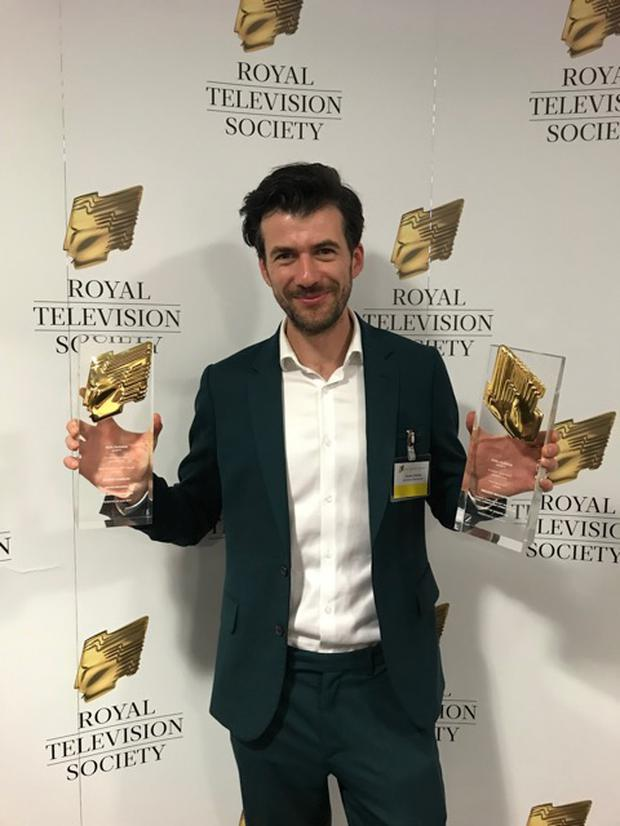 Ciarán Charles won two awards for Best Drama and Best Writing at the Royal Television Society Student Television Awards 2019