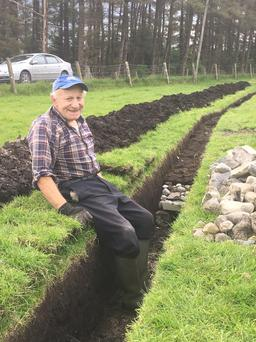 Spadework: John Connelly dug the 500-yard 'shore' himself on his land in Co Galway