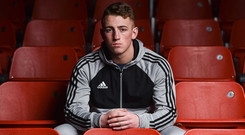 Rising star: Father-to-be Kevin Sheehy (20) died after being hit by a 4x4 in Limerick city. Photo by Seb Daly/Sportsfile