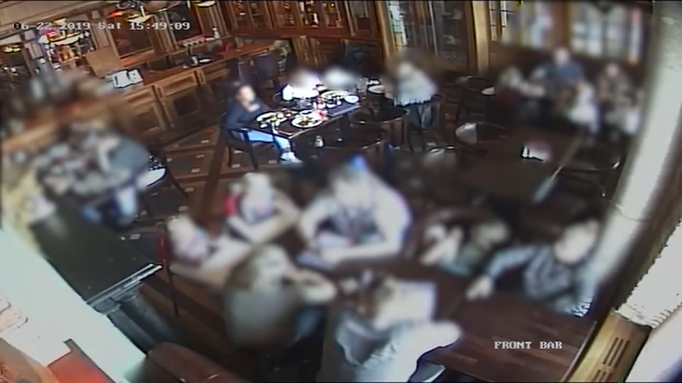 Footage from the Kildare pub