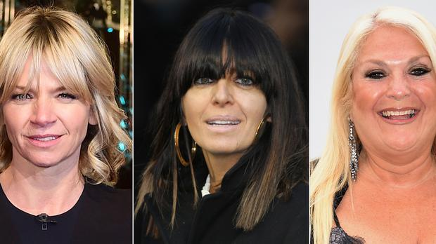 Undated composite file photos of (left to right) Zoe Ball, Claudia Winkleman and Vanessa Feltz, who are among the top 10 highest-paid BBC stars in 2018/19, according to the corporation's latest annual report (PA)