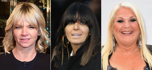 Zoe Ball, Claudia Winkleman and Vanessa Feltz are among the highest-paid BBC stars (PA)
