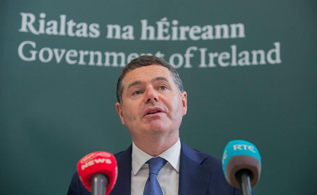 Doubling up: Paschal Donohoe will have two budget options. Photo: Gareth Chaney, Collins
