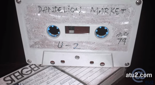 The tape from 1979 featuring U2 at Dandelion Market