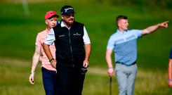 Shane Lowry of Ireland during the Pro-Am round ahead of the Dubai Duty Free Irish Open at Lahinch Golf Club in Lahinch, Co. Clare. Photo by Ramsey Cardy/Sportsfile