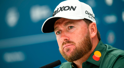 Graeme McDowell is pictured during a press conference ahead of the Dubai Duty Free Irish Open at Lahinch Golf Club in Lahinch, Co Clare. Photo: Ramsey Cardy/Sportsfile