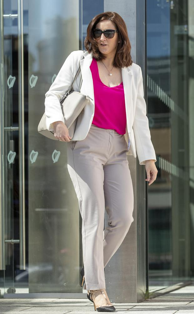 In court: Dr Rebecca Weld, an animal DNA profiler, leaves the Central Criminal Court after giving evidence in the trial of Paul O'Beirne. Photo: Collins