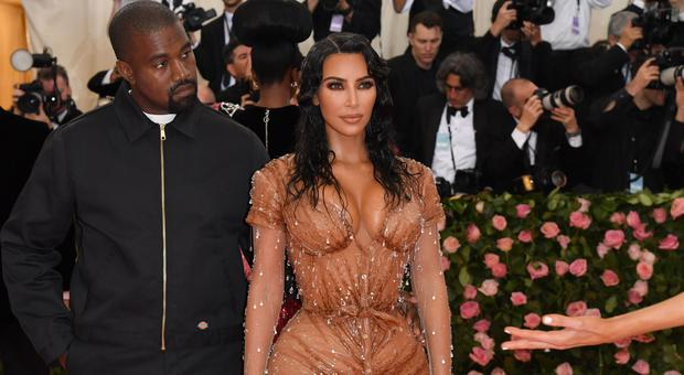 Kim Kardashian and Kanye West arrive for the 2019 Met Gala at the Metropolitan Museum of Art on May 6, 2019, in New York