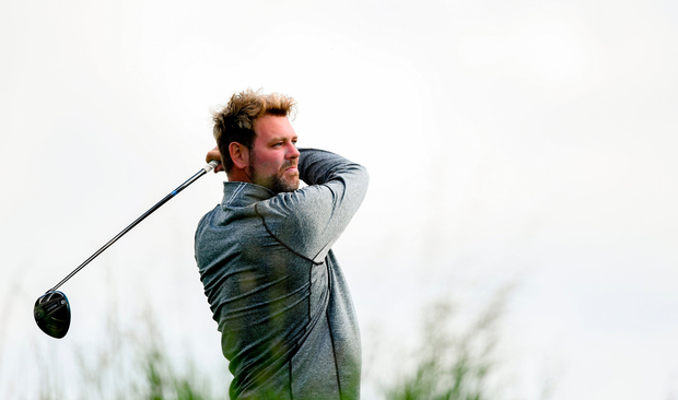 Brian McFadden during the Pro-Am round at Lahinch