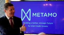 Minister for Finance Paschal Donohoe launching Metamo