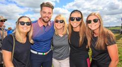 Eimear, Betty, Ciara and Eilis Ryan from lahinch with Keith Duffy at the Irish Open Pro Am day in the Dubai Duty Free Irish Open at Lahinch Golf Club. Pic:Mark Condren 3.7.2019