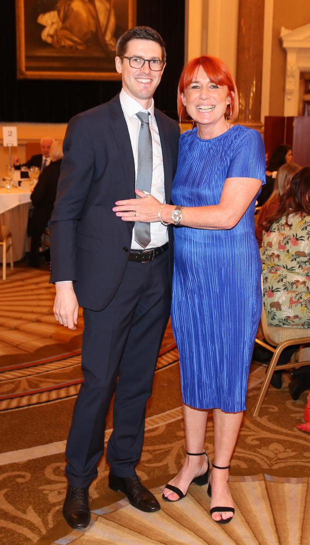 Sean O'Neill and Suzanne Redmond at the Peter Mark Long Service awards at The Westin. Picture: Photocall Ireland