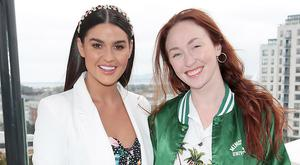 Lynn Kelly and January Winters at the launch of WaterWipes Facial Wipes at the Marker Hotel, Dublin. Picture: Brian McEvoy
