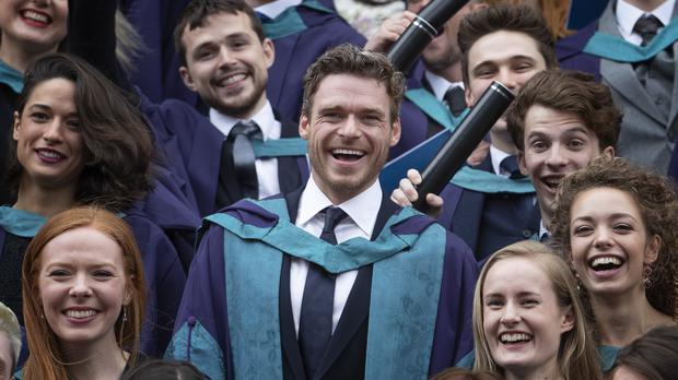 Richard Madden at the Royal Conservatoire of Scotland (Jane Barlow/PA)