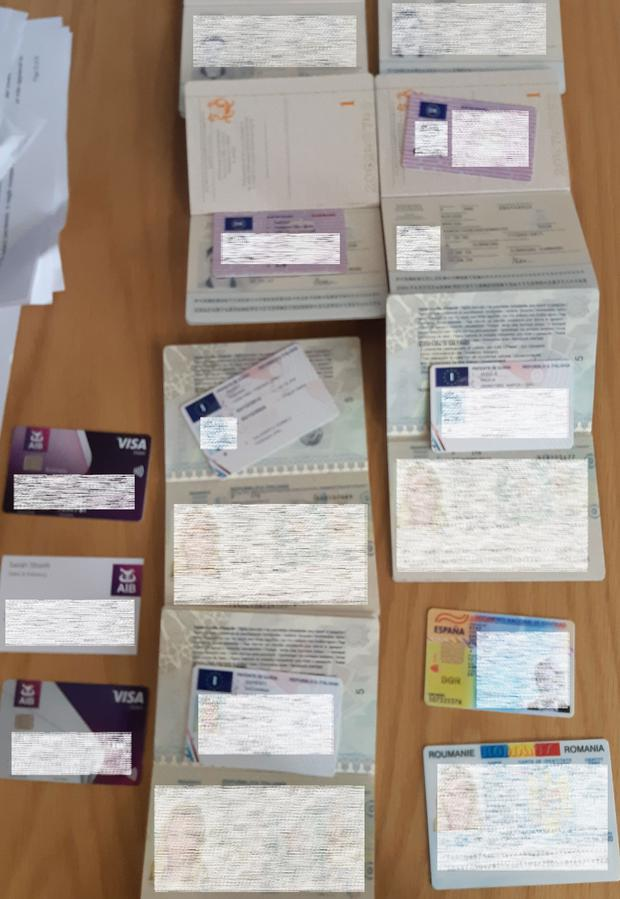 Fake passports and other documents seized in raids