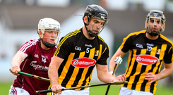 Conor Heary of Kilkenny in action against John Fleming of Galway. Photo by Matt Browne/Sportsfile