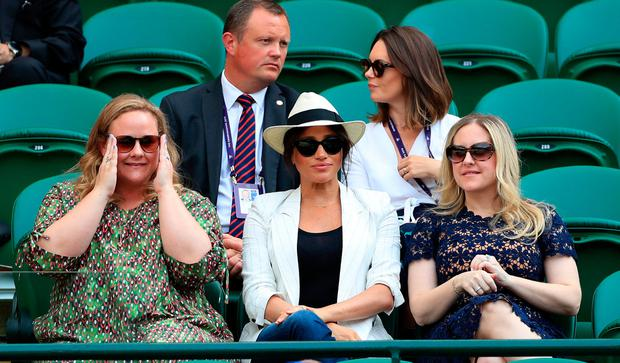 Meghan Markle pictures Wimbledon fan lifts lid on how bodyguards intervened