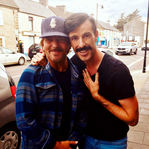 Eddie Vedder with Brian Keville after a chance meeting in Kildare