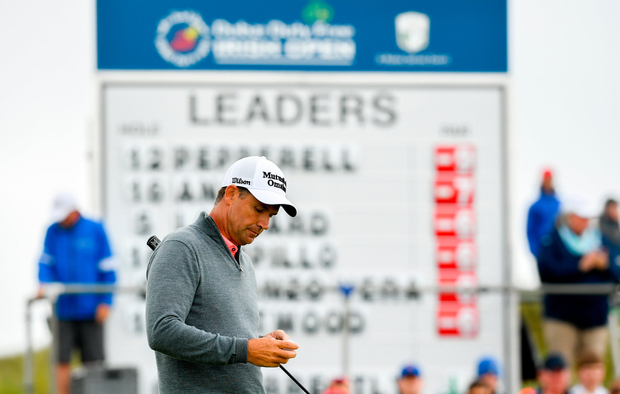 5 July 2019; Padraig Harrington of Ireland following his putt on 15 during day two of the 2019 Dubai Duty Free Irish Open at Lahinch Golf Club in Lahinch, Clare. Photo by Ramsey Cardy/Sportsfile