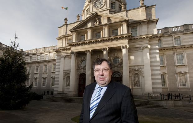 Former Taoiseach Brian Cowen at Government Buildings. Picture By David Conachy .22/12/09