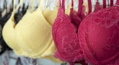 Bra sizes are measured from the back rather than the front. This came as a great surprise to me. I thought bras were all about the front. (stock photo)