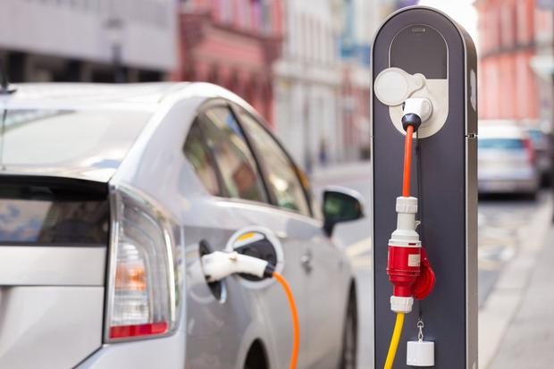 Powering up: Politicians have ambitious targets for electric cars. Stock picture