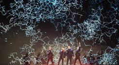 Westlife live on their 20 tour in Croke Park Pic:Mark Condren