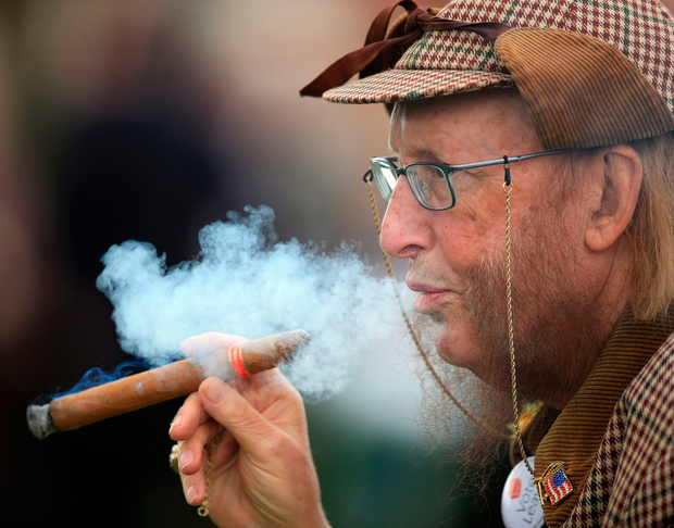 John McCririck's unique appearance helped him become a star. Photo: PA