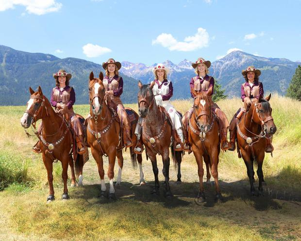 Cowgirls in the saddle at the Pendleton Round Up