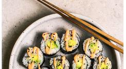 When you're rolling your sushi, think of the first roll like the first pancake and improve on the next one — you'll get better each time.