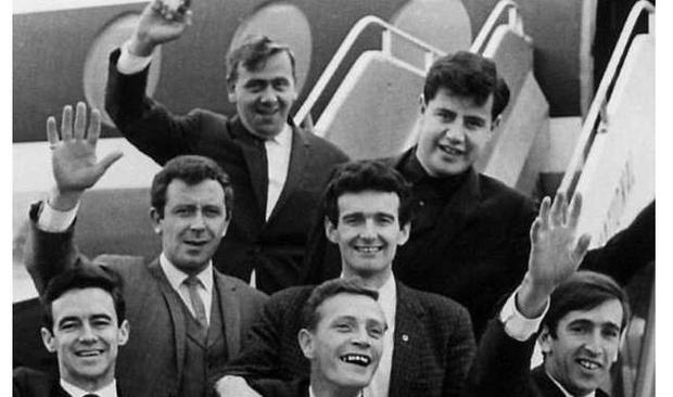 Flying high: The Royal Showband at Cork airport in 1966