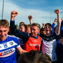 Laois manager Eddie Brennan celebrates with his players and supporters after the GAA Hurling All-Ireland Senior Championship preliminary round quarter-final match between Laois and Dublin at O'Moore Park in Portlaoise, Laois last July. Photo by Piaras Ó Mídheach/Sportsfile