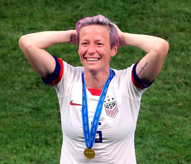Rapinoe collected not just the World Cup but the Golden Boot. Photo: PA Wire